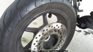 タイヤがはずせました